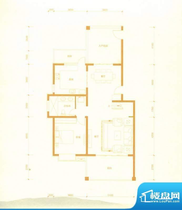 赵都华府叠拼三跃 B面积:268.12m平米