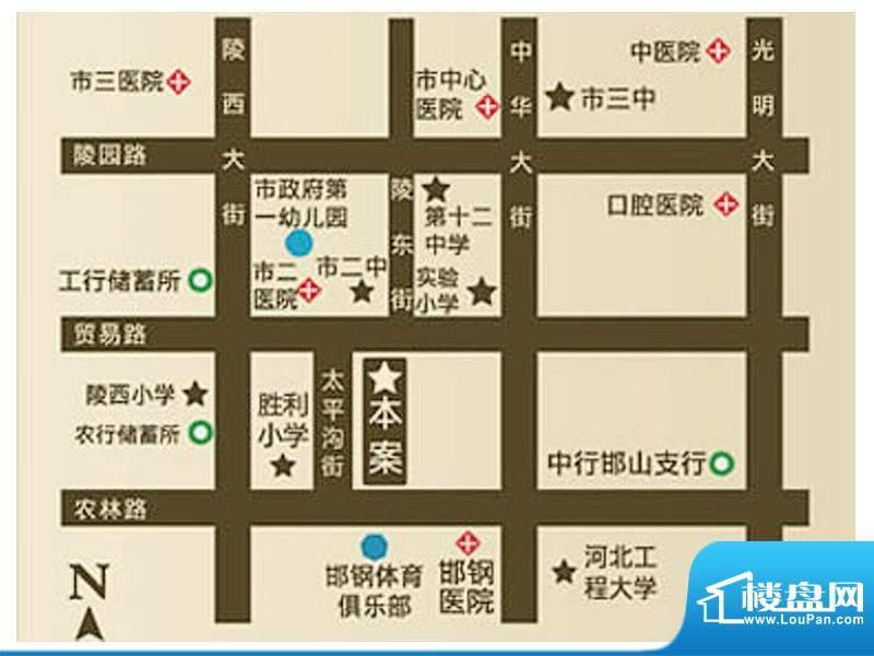 中恒书香门邸交通图