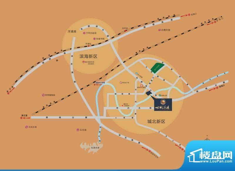 水榭丹堤交通图