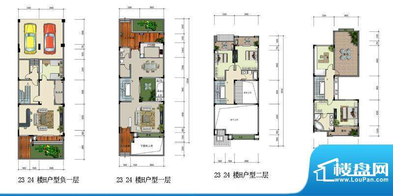 水榭丹堤联排大宅户面积:231.03平米