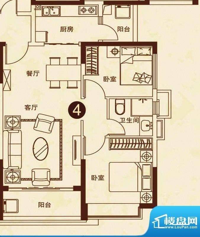 海南恒大御景湾26#楼面积:81.00平米