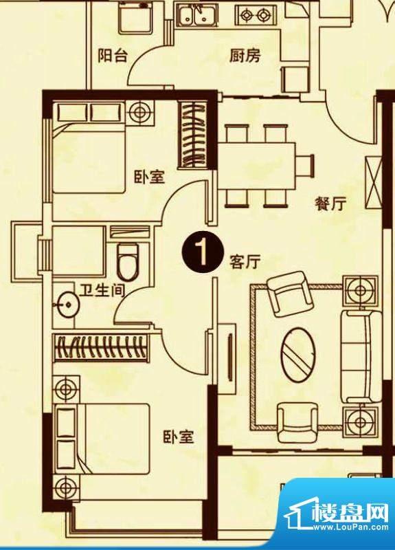 海南恒大御景湾25#楼面积:82.00平米