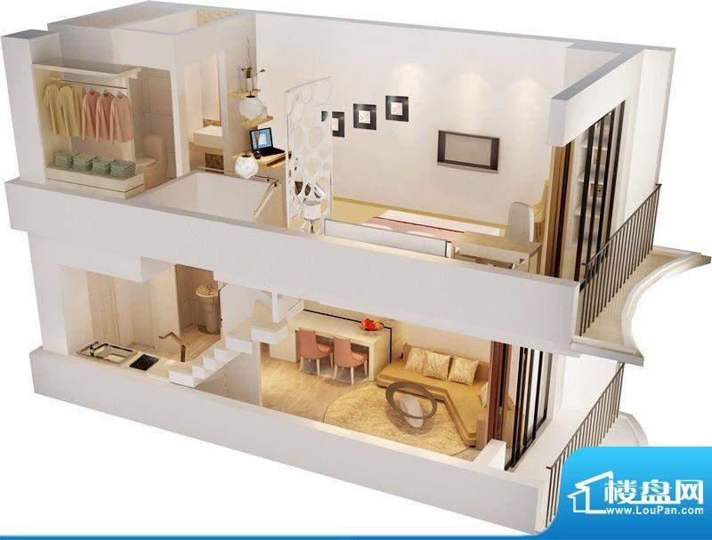 龙禧湾偶寓34平米跃面积:56.00平米