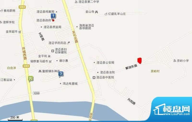 深蓝苑滨江城交通图