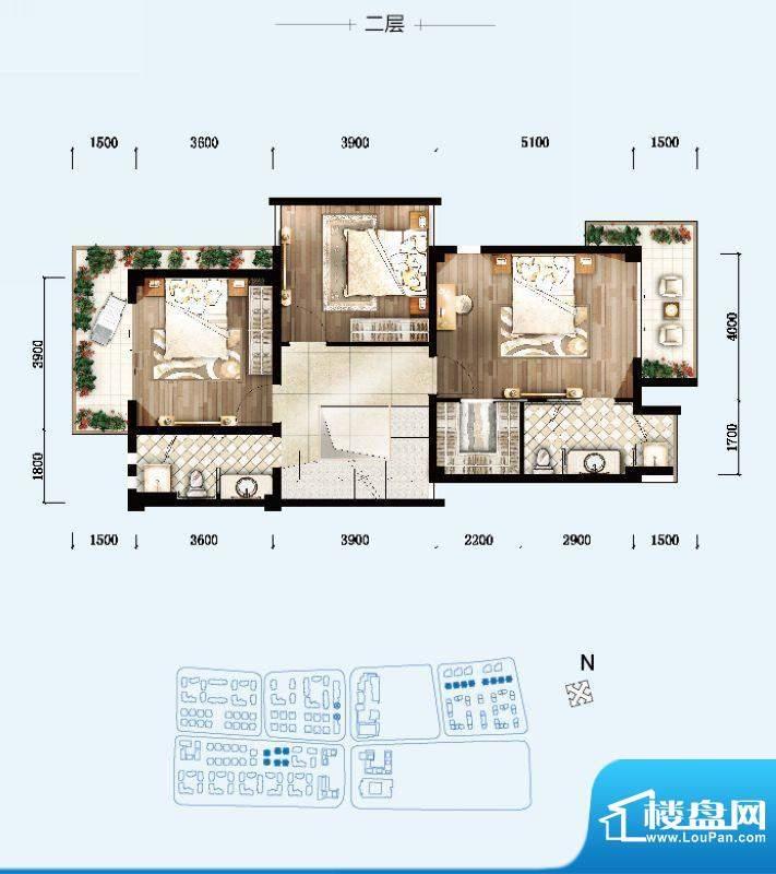 开维生态城双拼别墅面积:183.68平米