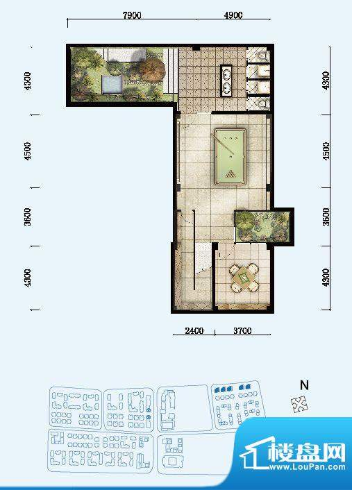 开维生态城独栋别墅面积:478.32平米