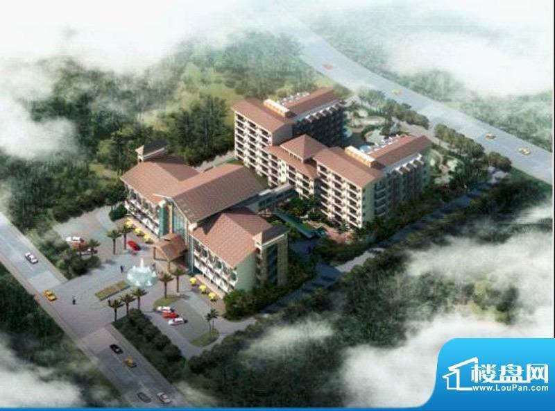 曼特宁温泉酒店公寓鸟瞰图