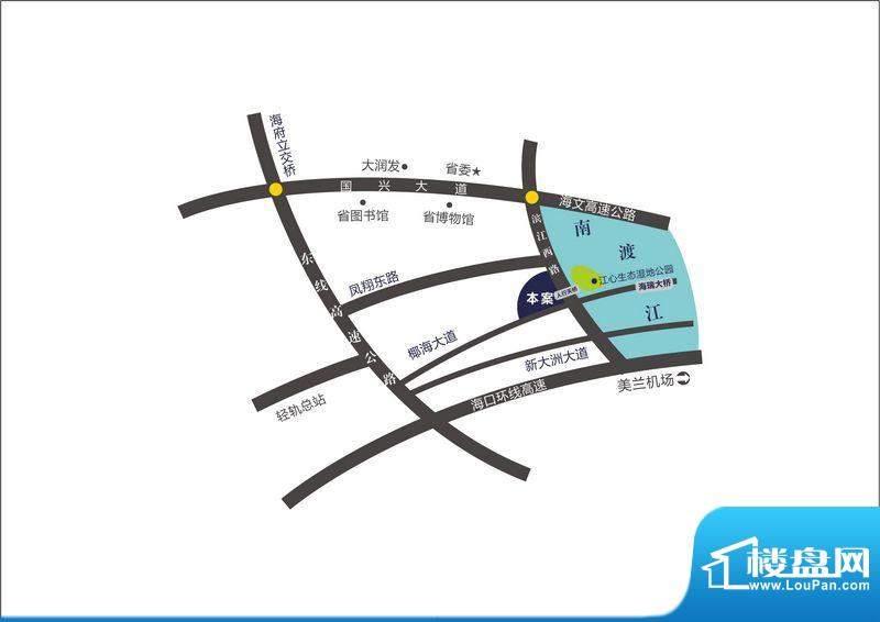 滨江度假城区位图