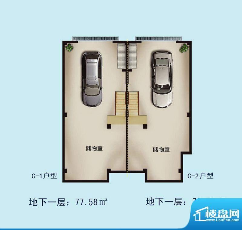 金螺湾别墅C户型地下面积:148.11平米