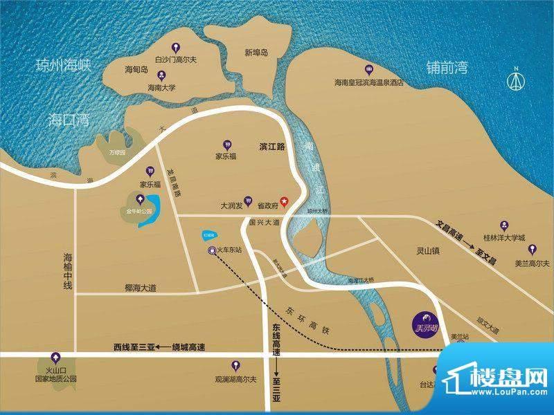 金隅大成美灵湖交通图