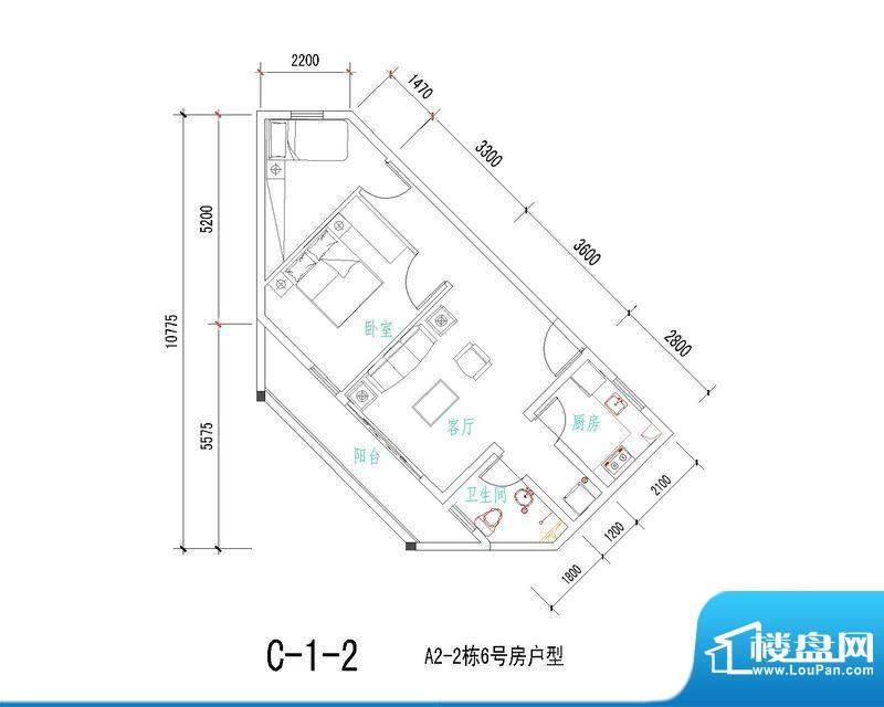 海南冯家湾椰风海韵面积:77.24平米