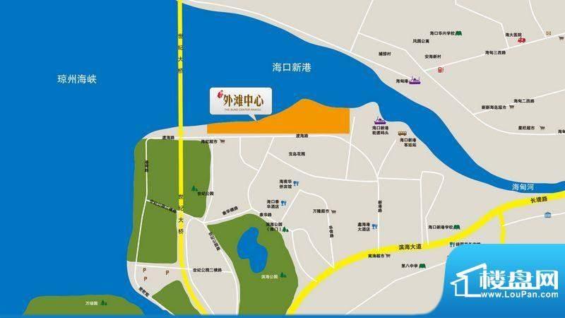 海口外滩中心交通图