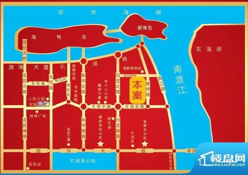 海尚明居交通图