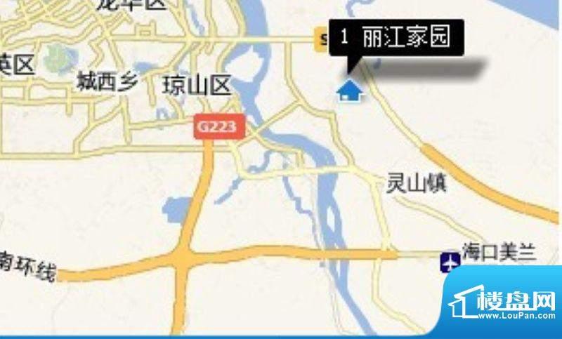 丽江家园交通图
