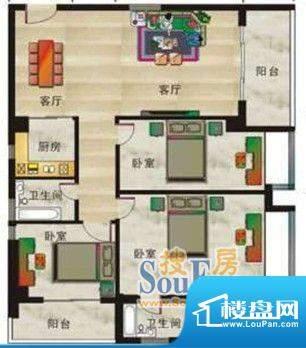 丽江家园三室两厅两面积:0.00平米