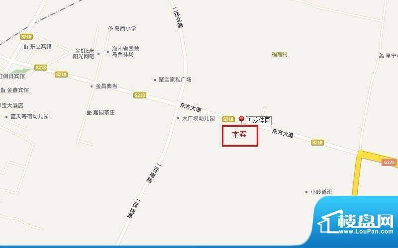天龙佳园交通图