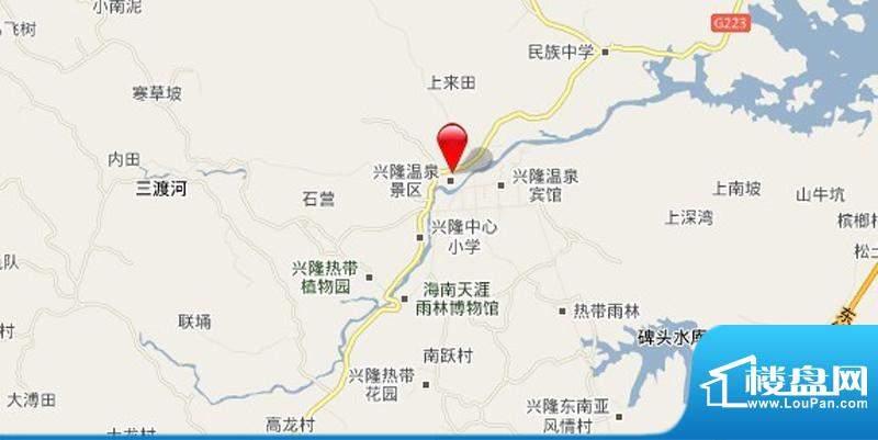 安富雨林海交通图