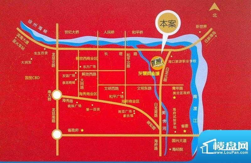 龙景商业城交通图