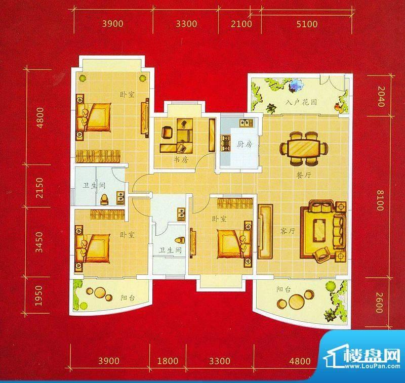 龙景商业城2幢01号户面积:164.51平米