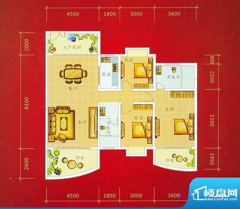 龙景商业城2幢04号户面积:140.61平米
