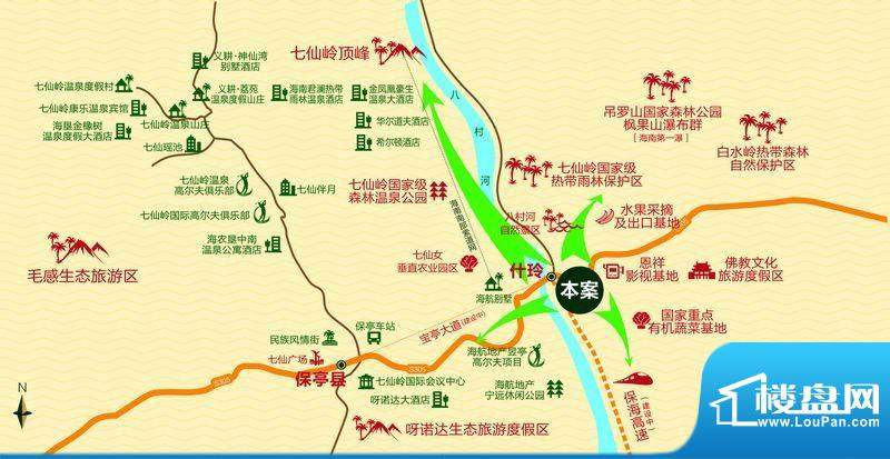 槟榔海山庄交通图