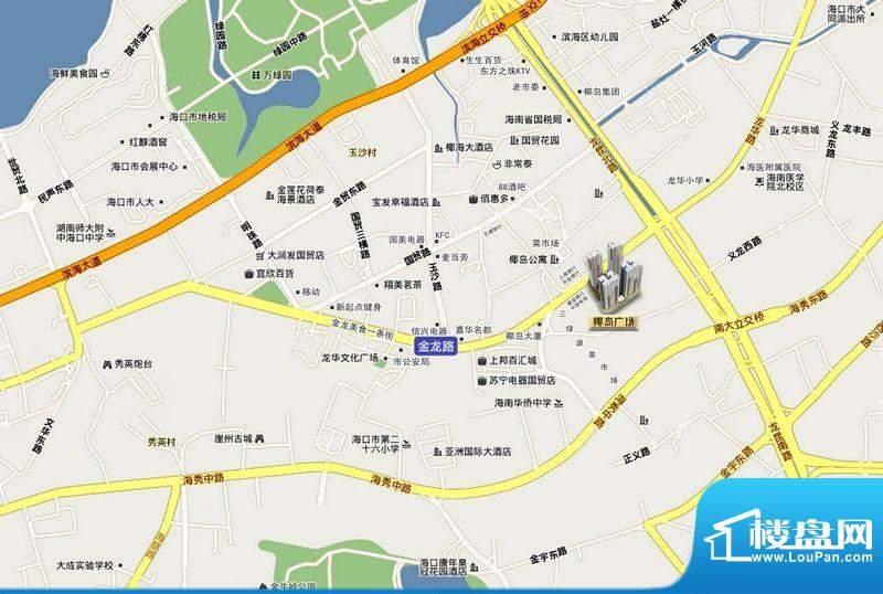 椰岛广场交通图