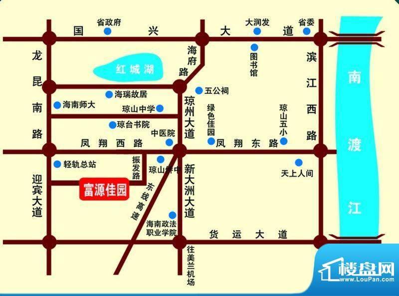 富源佳园交通图