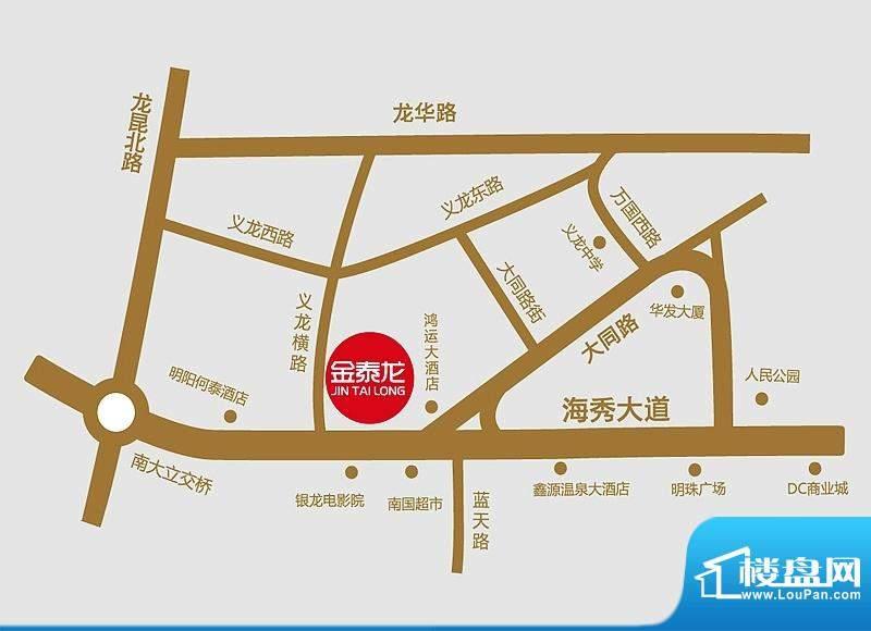 金泰龙步行街商厦交通图