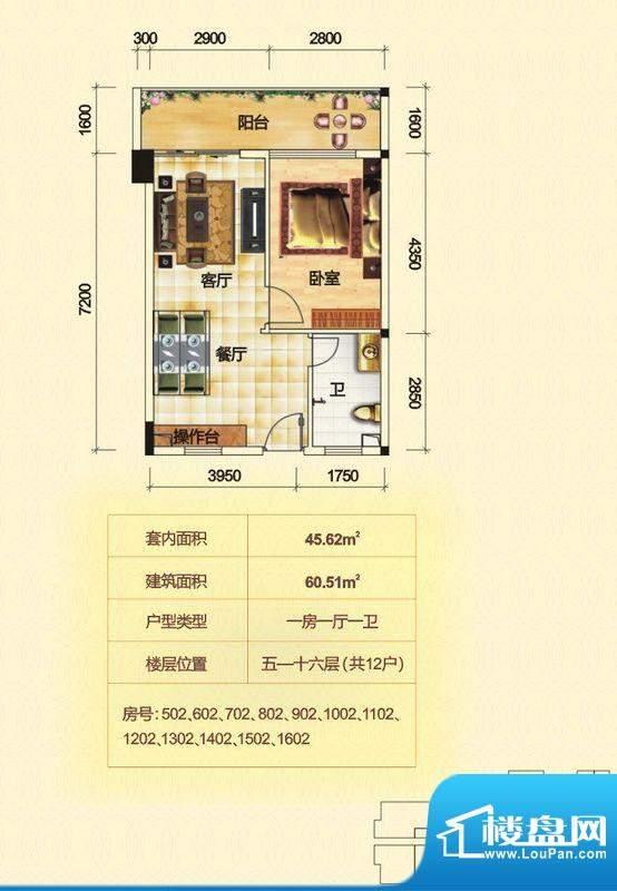 金泰龙步行街商厦5-面积:60.53平米