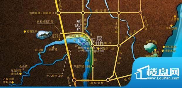 御河观景台交通图