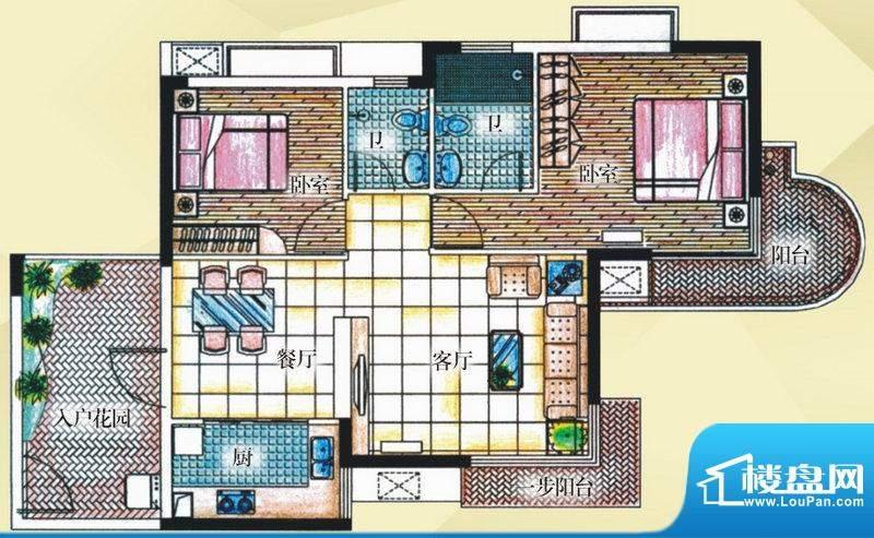御河观景台7#楼01室面积:92.80平米
