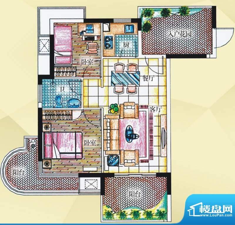 御河观景台7#楼08室面积:72.10平米