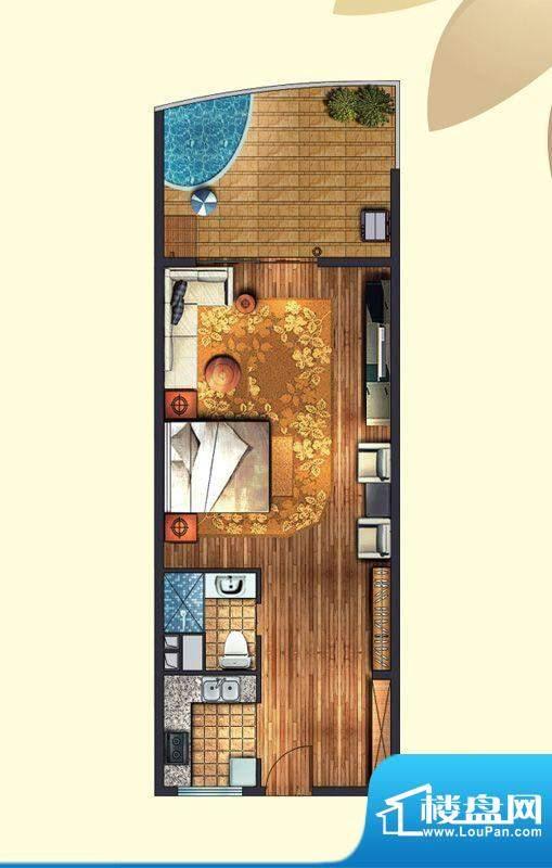 东方龙湾A2(5号楼)面积:57.00平米