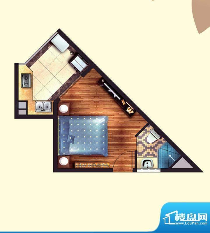 东方龙湾A3(5号楼)面积:29.00平米
