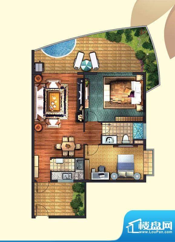东方龙湾A3(8号楼)面积:81.00平米