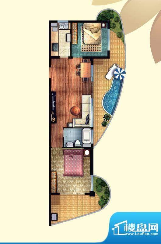 东方龙湾B1(6号楼)面积:81.00平米