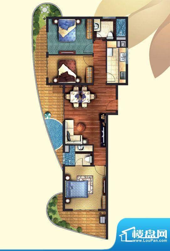 东方龙湾C1(7号楼)面积:110.00平米
