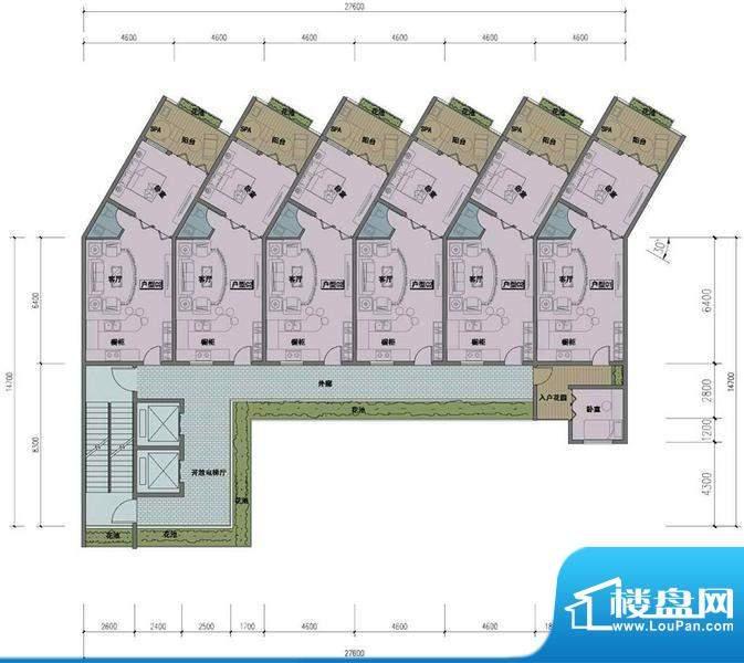 东方龙湾D-05户型平面积:0.00平米