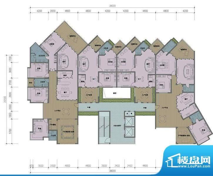 东方龙湾D-06户型平面积:0.00平米