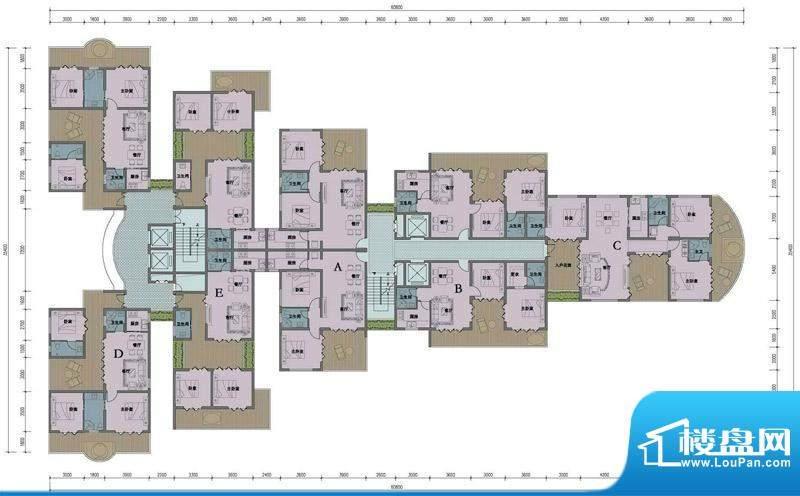 东方龙湾D-07户型平面积:0.00平米