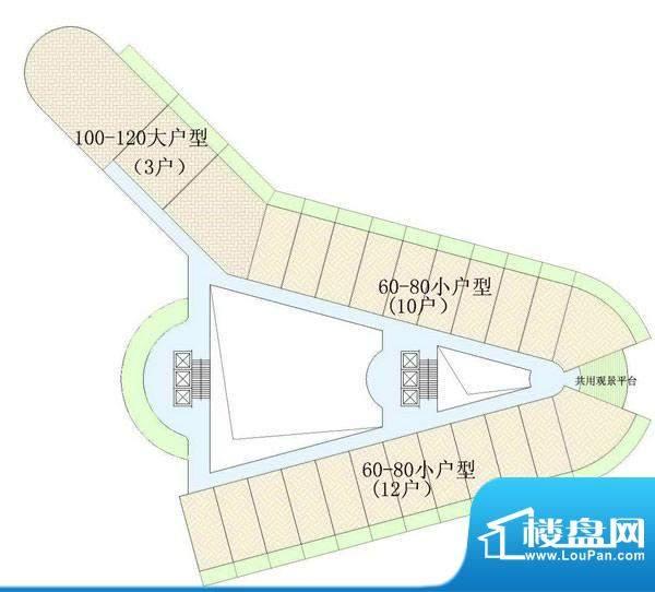 东方龙湾D-02户型分面积:0.00平米