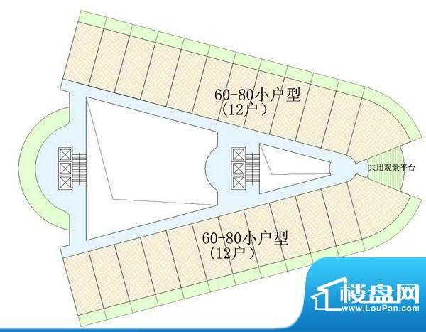 东方龙湾D-01户型分面积:0.00平米