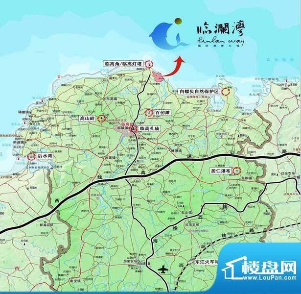 临澜湾海豚花园交通图