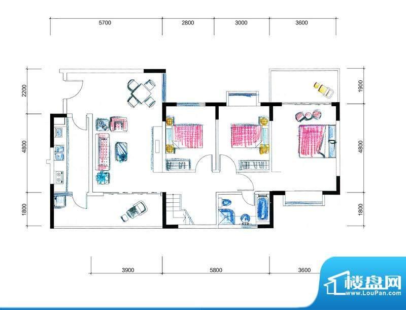 临澜湾海豚花园1号楼面积:169.00平米