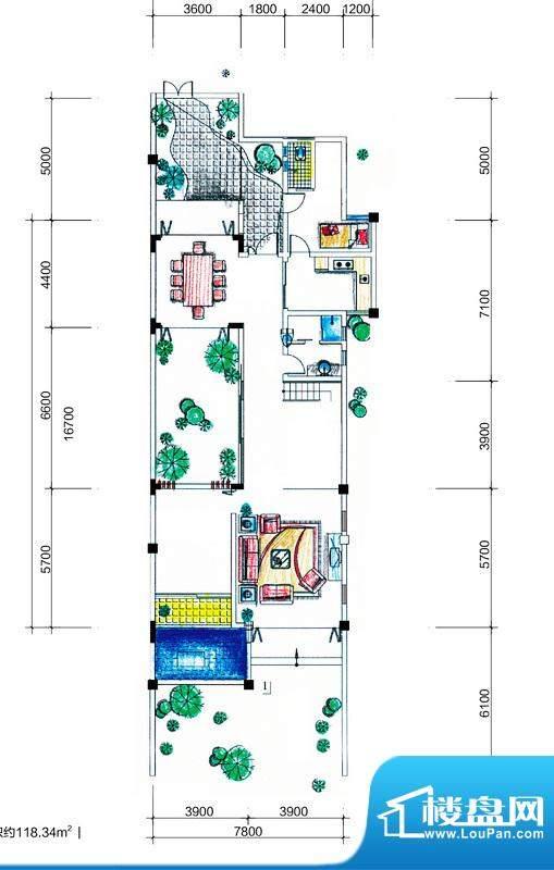 临澜湾海豚花园叠拼面积:230.61平米