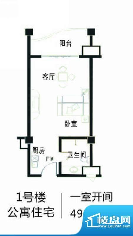 南海家园1号楼公寓住面积:49.18平米