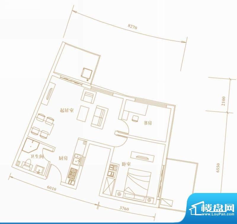 棕榈半岛国际公寓1g面积:78.90平米