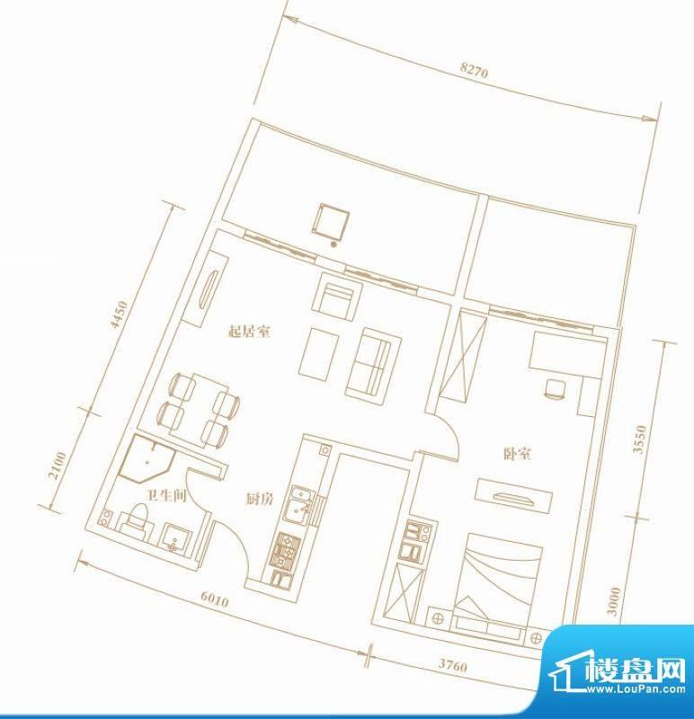 棕榈半岛国际公寓1f面积:74.33平米