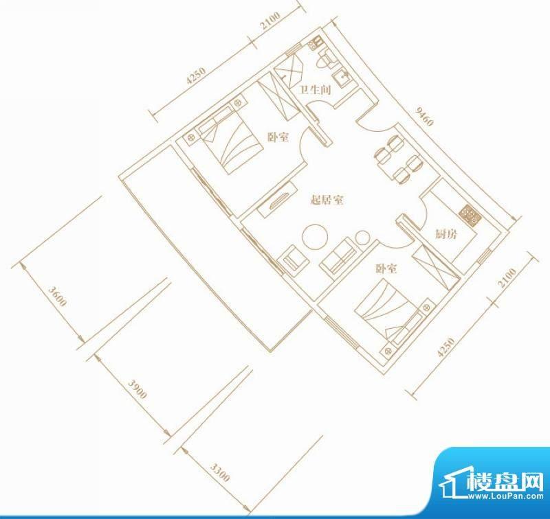 棕榈半岛国际公寓a2面积:88.92平米