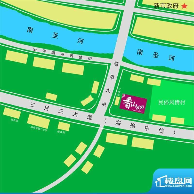 香山花园交通图